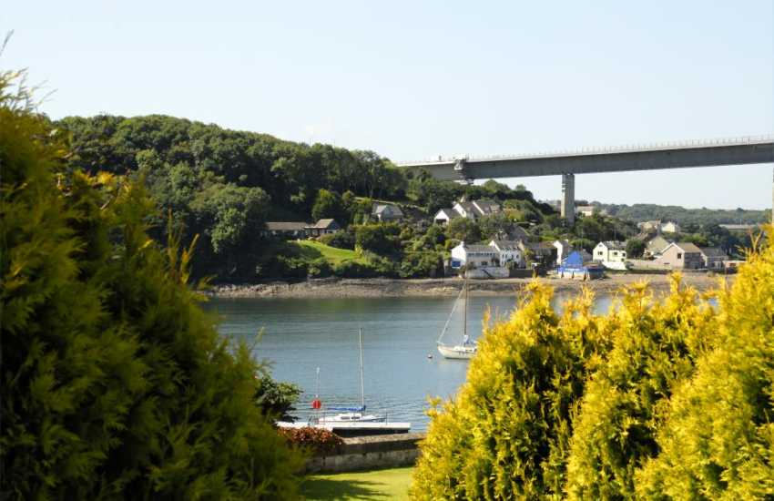 Views across The Cleddau River from the grounds