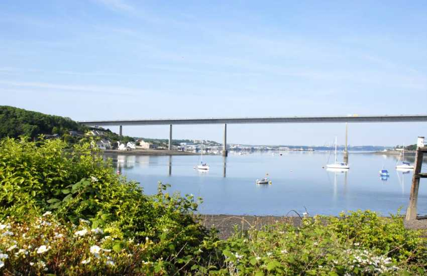 Fabulous views over The Haven Waterway from the cottage