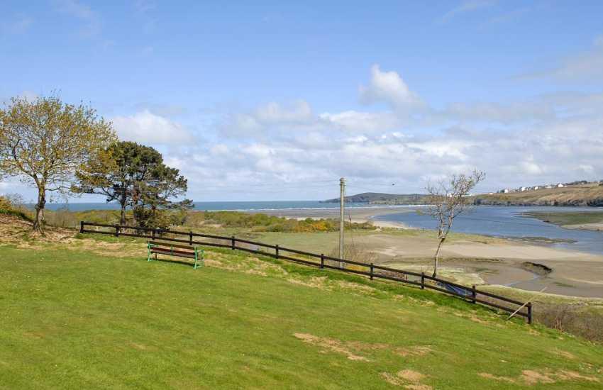 Enjoy breathtaking views to Poppit Sands, Teifi Estuary, Gwbert and Cardigan Island from Oakbrook