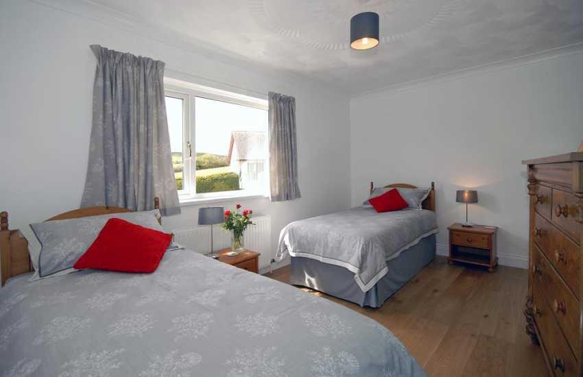 Cardigan Golf Club holiday bungalow - twin bedroom