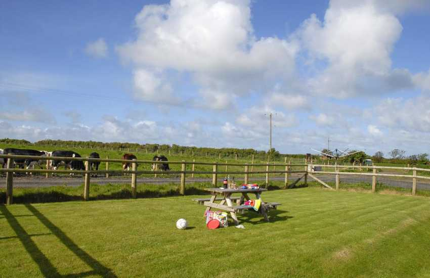 Nolton Haven holiday farmhouse with enclosed garden and countryside views
