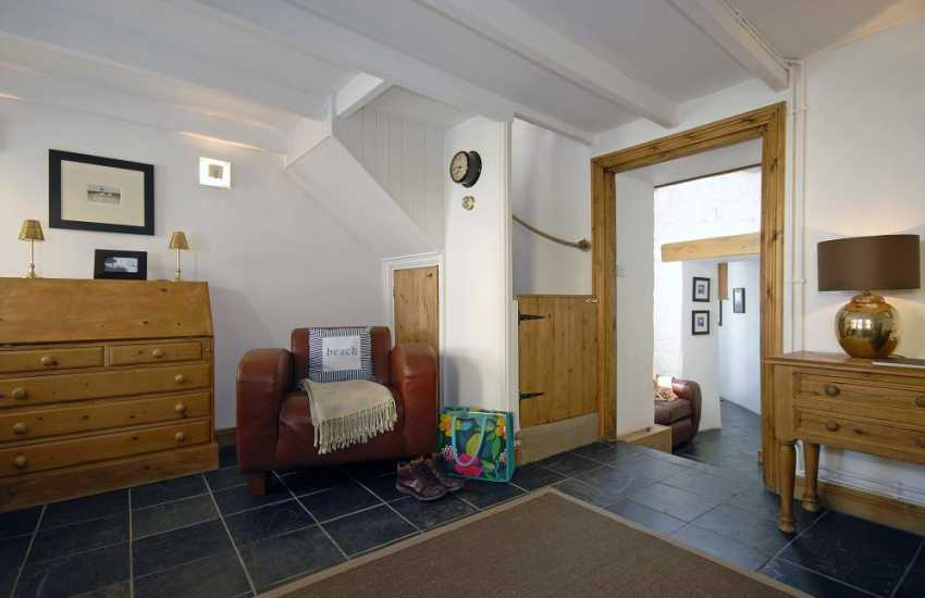 Pembrokeshire coastal cottage - sitting room leading to a snug