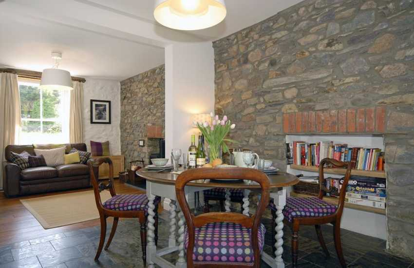North Pembrokeshire holiday cottage - stylish open plan dining/living area