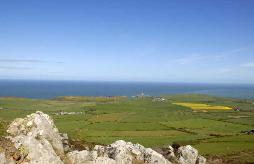 Walk to the top of Garn Fawr - the views down across the headland are breathtaking