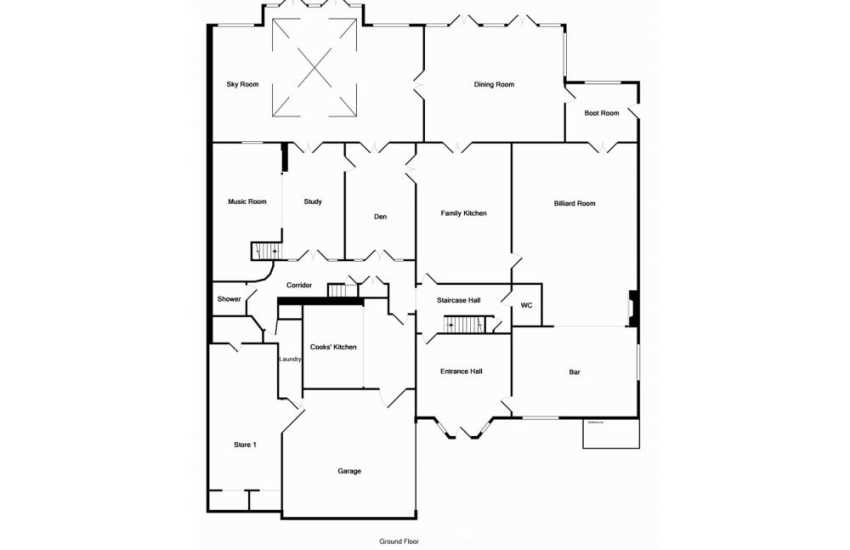 Holiday home by the sea-floor plan ground floor