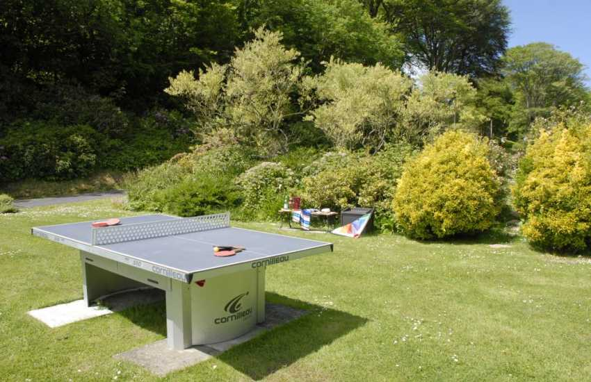 Table Tennis at The Beach House Waterwynch Bay, Pembrokeshire