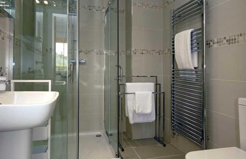 St Davids holiday house - ground floor shower room