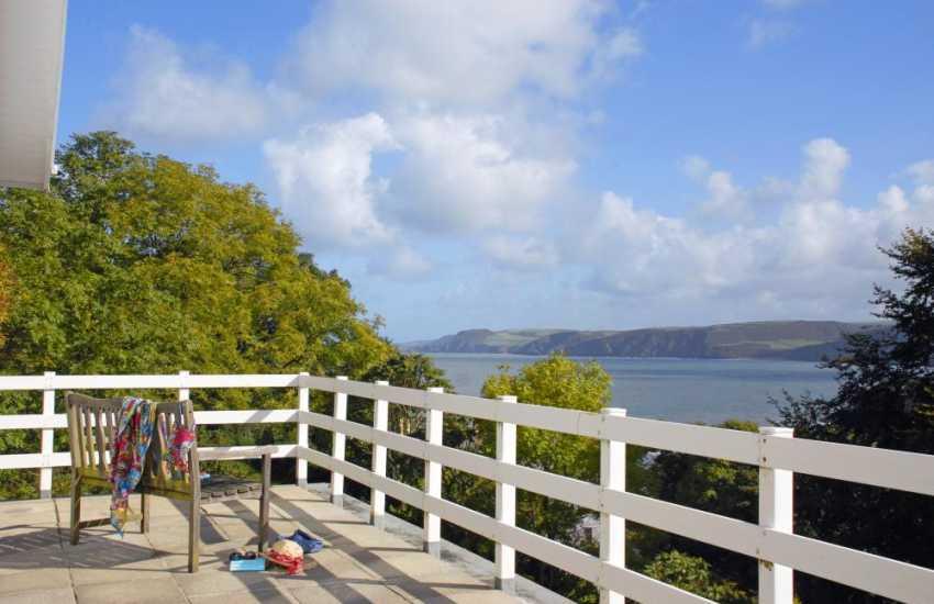 Cardigan Bay coastline from the terrace balcony
