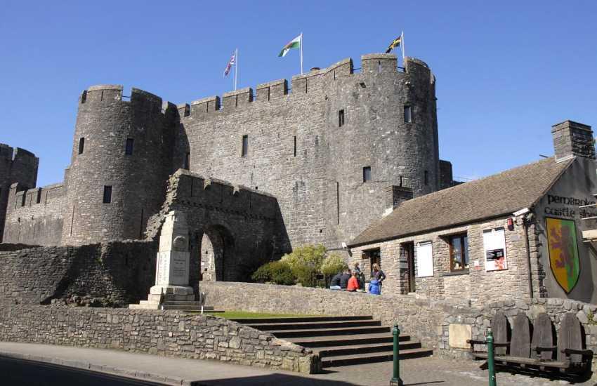 Pembroke Castle, birth place of Henry VII - a magnificent medieval castle