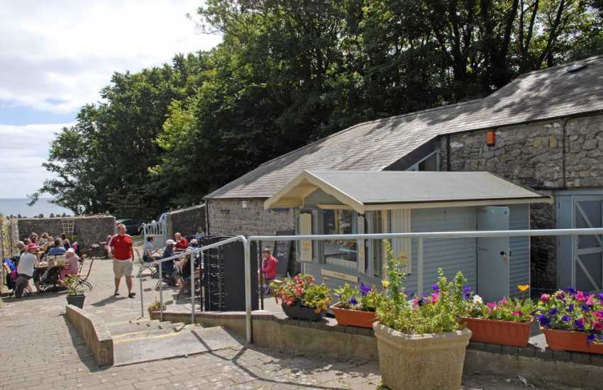 The Boathouse Tearoom (National Trust), serves delicious freshly prepared meals, beside the tiny harbour of Stackpole Quay