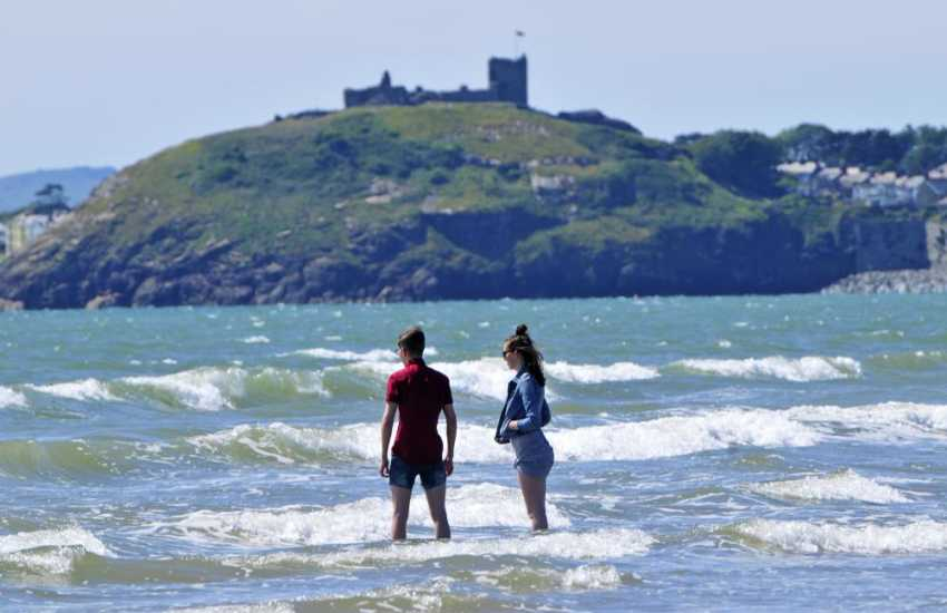 Blackrock Sands with Criccieth Castle behind