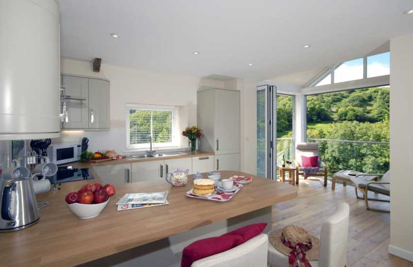 Self-catering Pembrokeshire holiday cottage - modern open plan kitchen/diner/living space