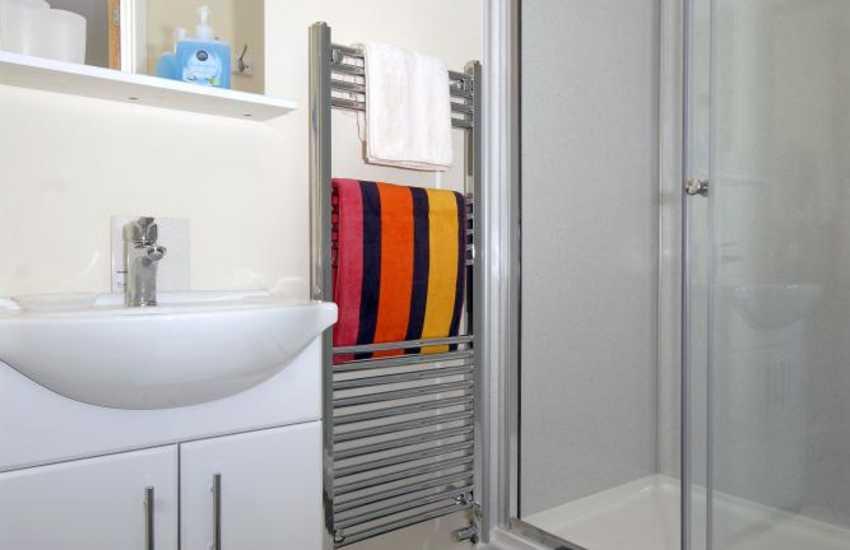Gwaun Valley cottage - master en-suite shower