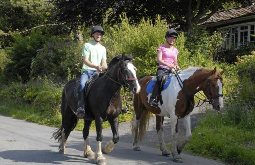 Nolton Riding Stables cater for all levels and offer exhilarating beach rides combined with countryside hacks - great fun!