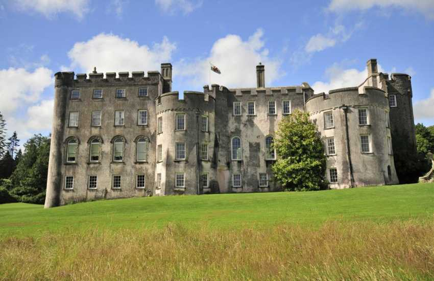 Picton Castle set in 40 acres of magnificent woodland and walled gardens. Enjoy guided tours and special events, including Family Fun Days, Outdoor Theatre, Garden Tours and Music Evenings