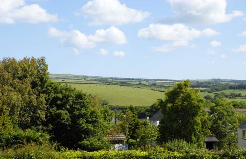 Views over the countryside from the first floor bedrooms