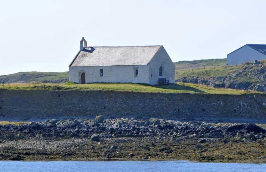 St Cwyfan Church in the sea at Aberffraw