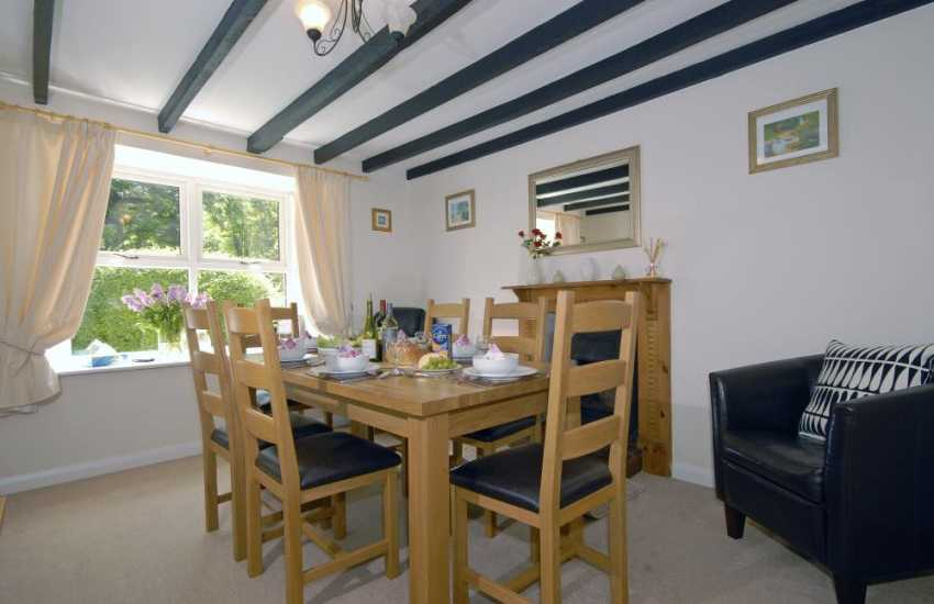 North Pembrokeshire holiday house -  dining room with open fireplace