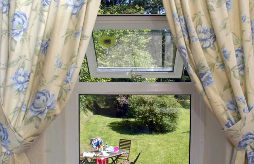 Views over the garden from the first floor