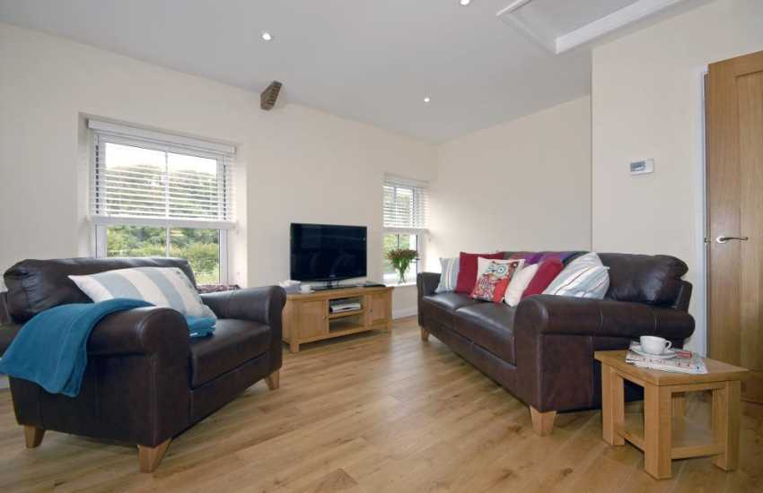 North Pembrokeshire holiday cottage in the Gwaun Valley - open plan sitting room with t.v and WiFi - internet