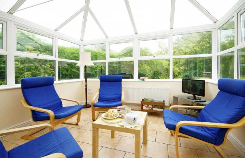 Large holiday house Criccieth - conservatory