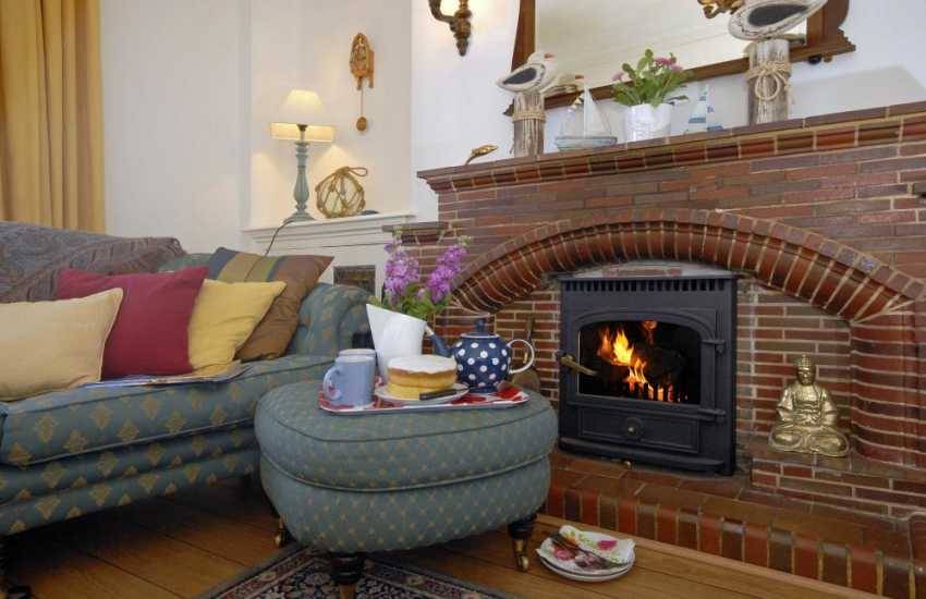 Holiday cottage New Quay West Wales - cosy at anytime of year