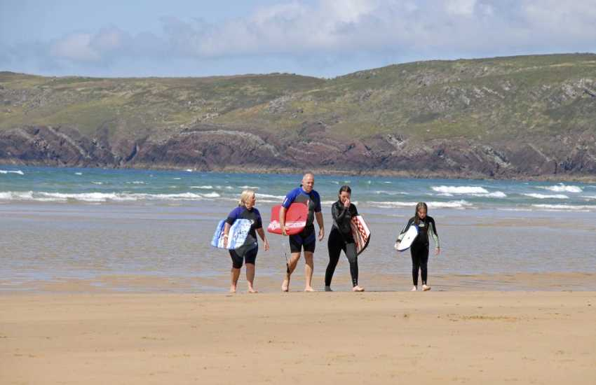 Freshwater West is one of the finest beaches in Pembrokeshire and very popular with those seeking the surf