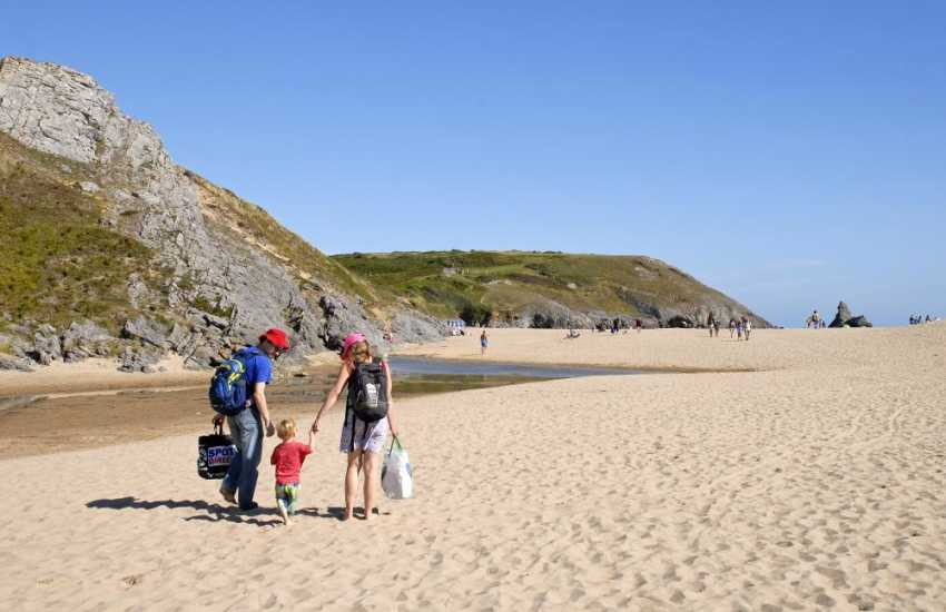 Broad Haven South - a beautiful fine sandy beach on the South Pembrokeshire Coast owned by the National Trust