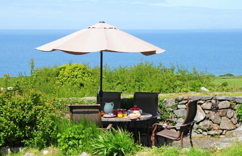 Seaside cottage Wales  - patio