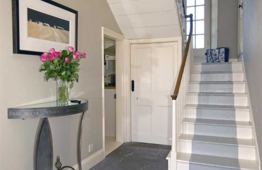 North Pembrokeshire restored Welsh farmhouse - flagstone hallway