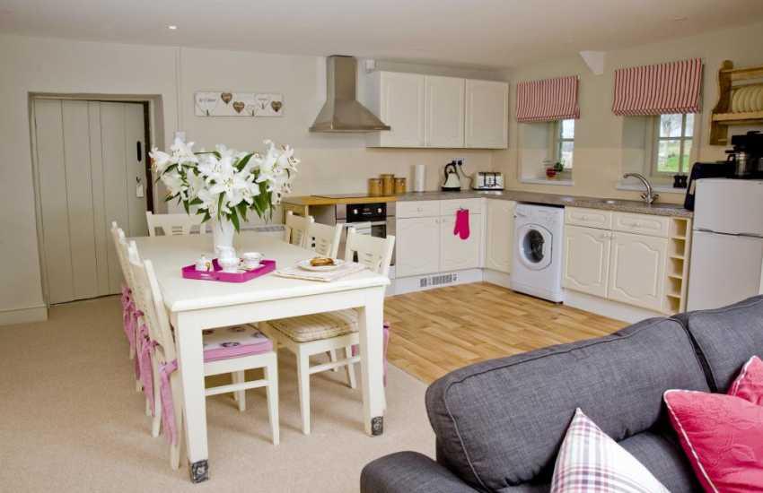 Holiday accommodation near Cowbridge - luxury open plan kitchen dining area