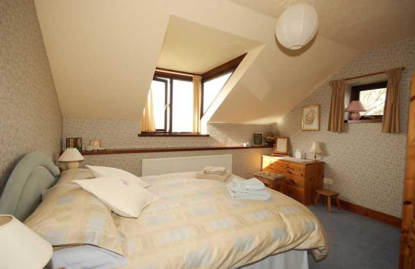 St Brides bay holiday cottage bedroom