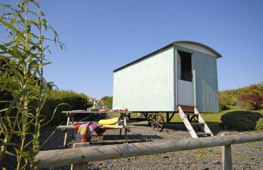 Dunraven Bay Glamorgan Heritage Coast - holiday shepherds hut