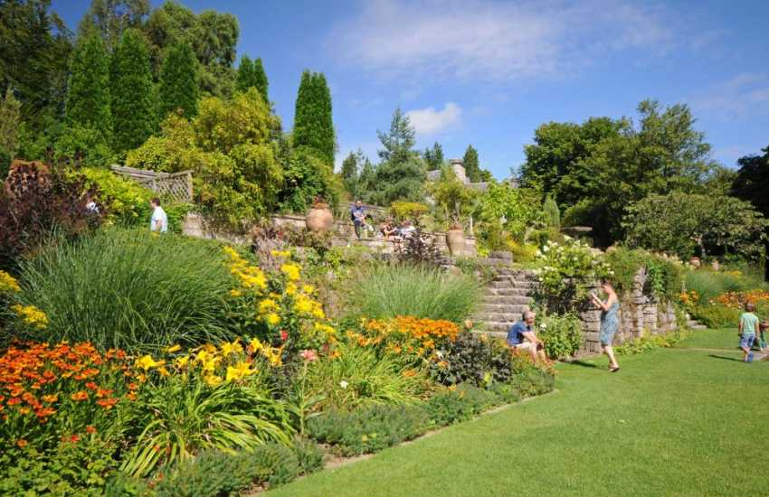 Plas Newydd Gothic manor house and beautiful gardens (N.T) in a lovely setting along side the banks of the Menai Strait