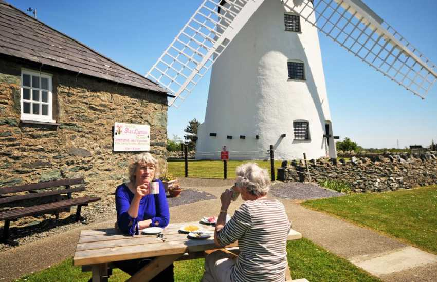 Llynnon Mill with a great cafe and reconstructed Iron age huts nearby