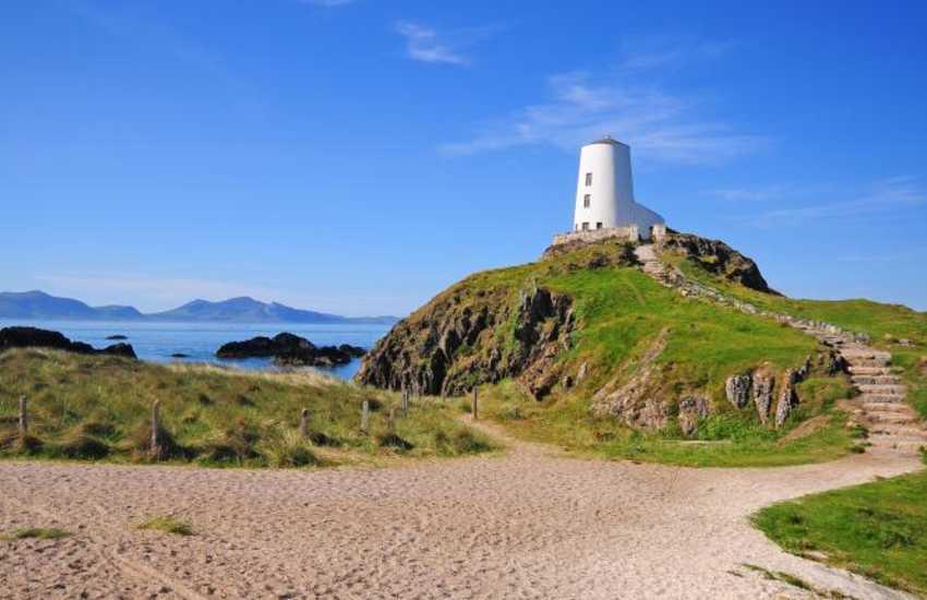 Llanddwyn Island, reached via a walk along one of Britain's finest beaches, Newborough