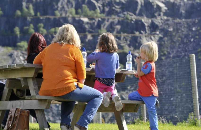 Family picnic in Snowdonia