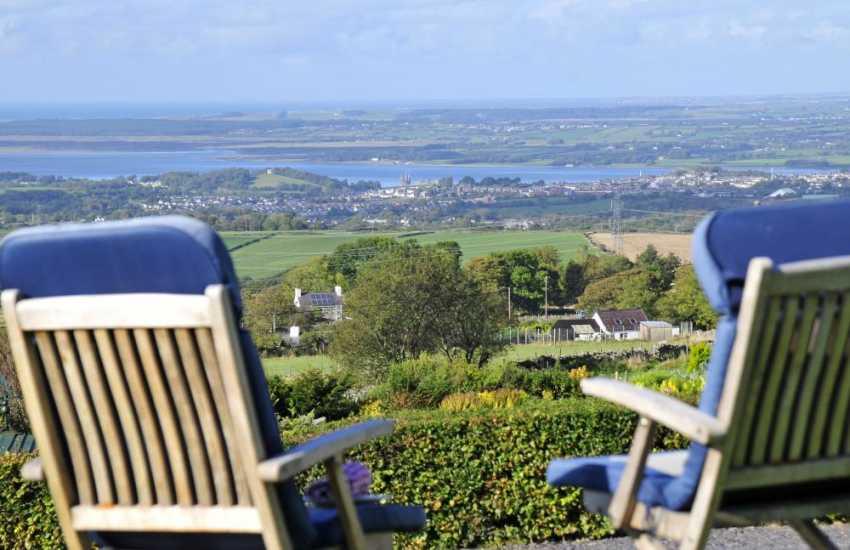 Caernarfon cottage views - view