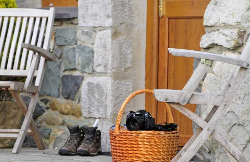 Snowdonia mountain cottage - door