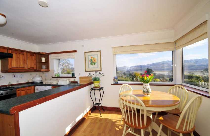 Kitchen/diner at  Fron Cottage Portmeirion