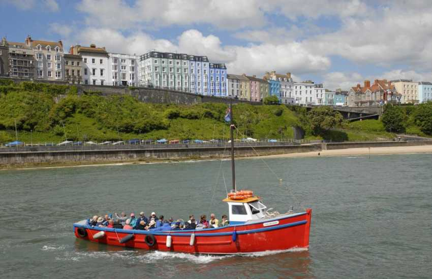 Choose from a boat trip to Caldey Island, St Margarets Cruise or Smuggler's Caverns & Island Cruise - all run from Tenby's picturesque harbour