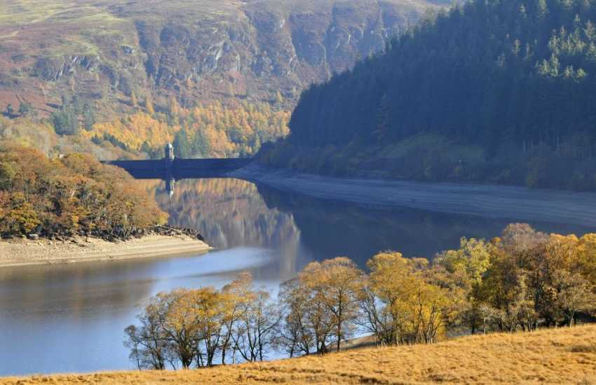 The Beautiful Elan Valley reservoir road to Cwmystwyth