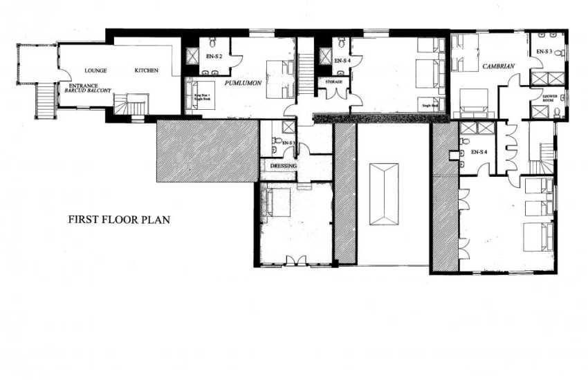 Devils Bridge Holiday house-first floor plan