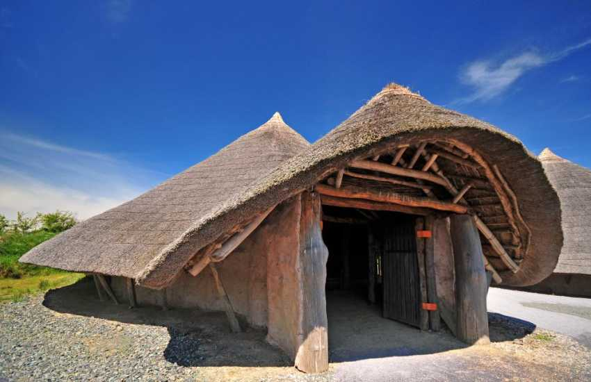 Iron age huts Llynnon Mill Anglesey