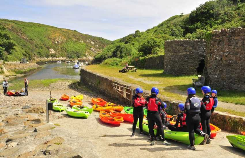 TYF Adventure Centre in St Davids offer a wide range of activities including rock climbing, coasteering, sailing and kayaking