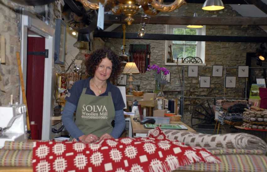 Do visit Solva Woollen Mill, the oldest working mill in Pembrokeshire, for beautifully crafted products - open all year round