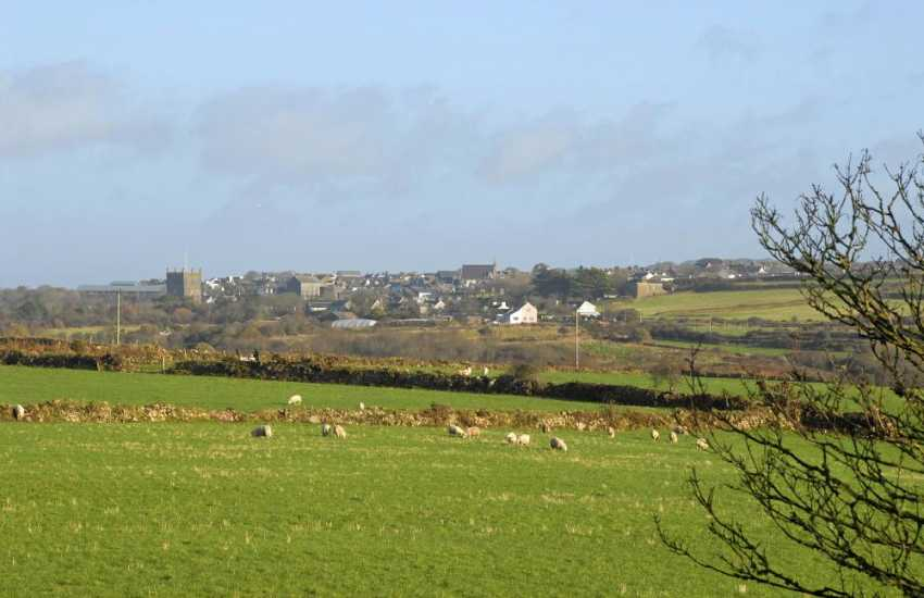 Enjoy fabulous views across farm and moorland to St Davids Cathedral tower beyond