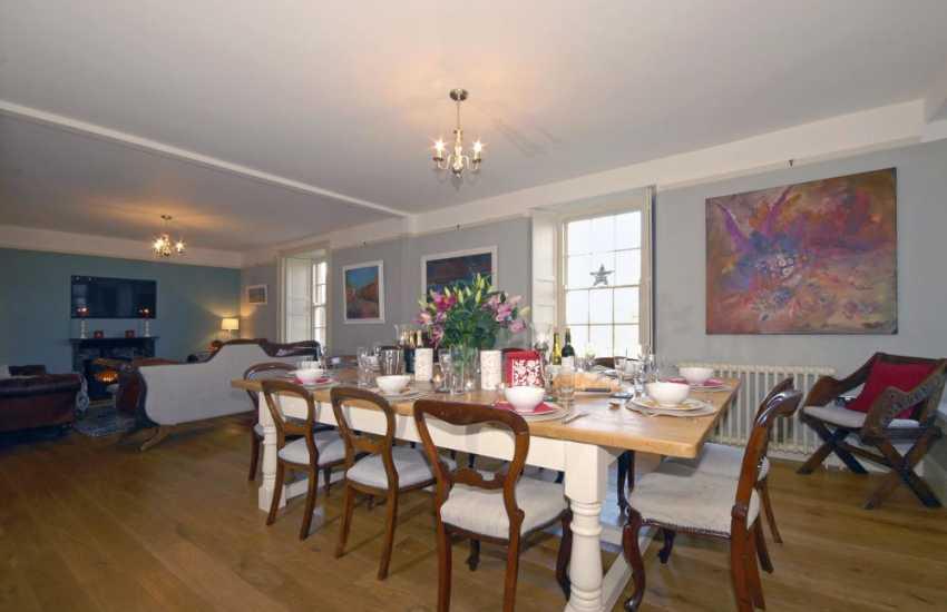 Porth Clais Pembrokeshire 18th century farmhouse - spacious dining/living room