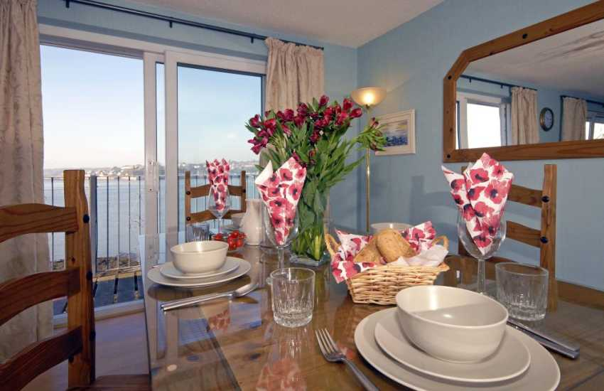 Haven Waterway views from your dining table at Beach Croft