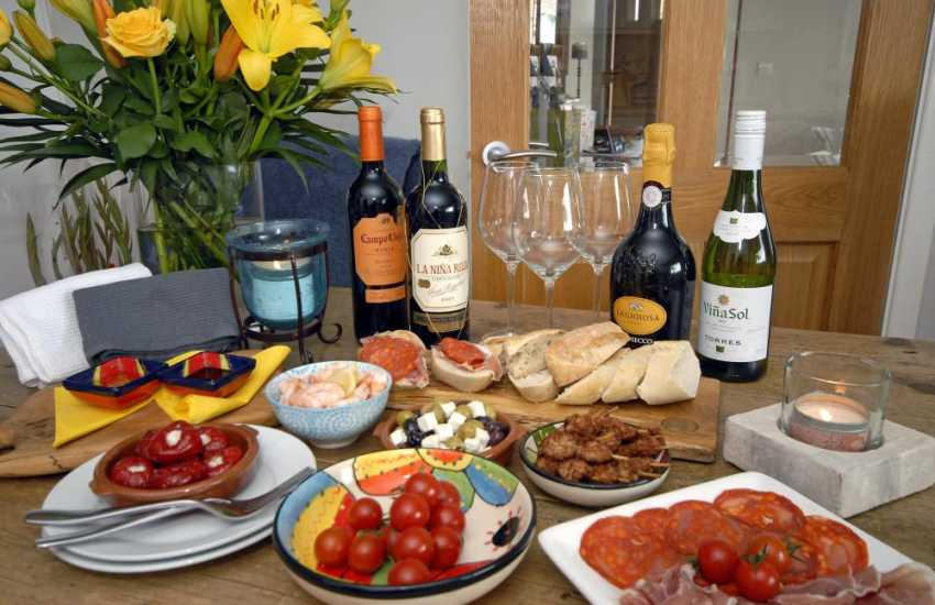Share tapas at The Kings Arms in Pembroke - perfect for a romantic evening!